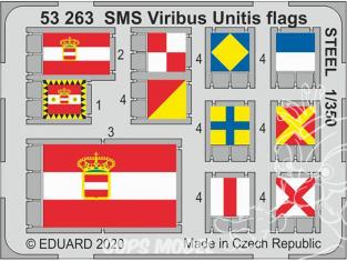 Eduard photodecoupe bateau 53263 Drapeaux métal SMS Viribus Unitis Trumpeter 1/350