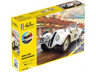 HELLER maquette voiture 56782 STARTER KIT BMW 328 Endurance 1/24