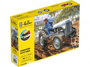 """Heller maquette tracteur 57401 STARTER KIT Ferguson TE-20 """"Petit Gris"""" Ensemble complet 1/24"""