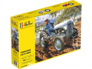 """Heller maquette tracteur 81401 Nouvelle boite Ferguson TE-20 """"Petit Gris"""" 1/24"""