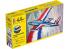 HELLER maquette avion 56220 STARTER KIT Fouga Magister inclus peintures principale colle et pinceau 1/72