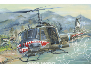 Hobby Boss maquette helicoptére 81806 UH-1 Huey B 1/18