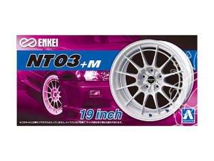 """Aoshima maquette voiture 053928 Jantes ENKEI NT03+M 19"""" et pneus 1/24"""