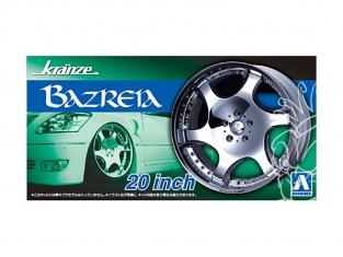 """Aoshima maquette voiture 054673 Jantes KRANZE BARZREIA 20"""" et pneus 1/24"""