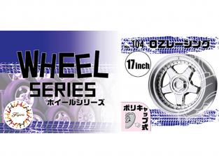 """Fujimi maquette voiture 193649 Jantes W104 OZ Racing 17"""" et pneus 1/24"""