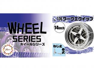 "Fujimi maquette voiture 193663 Jantes W106 Work Equip 14"" et pneus 1/24"