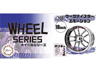 """Fujimi maquette voiture 193656 Jantes Workmeister Emotion 18"""" et pneus 1/24"""