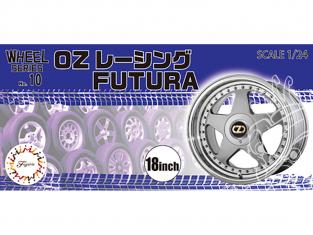 """Fujimi maquette voiture 193519 Jantes OZ Racing FUTURA 18"""" et pneus 1/24"""