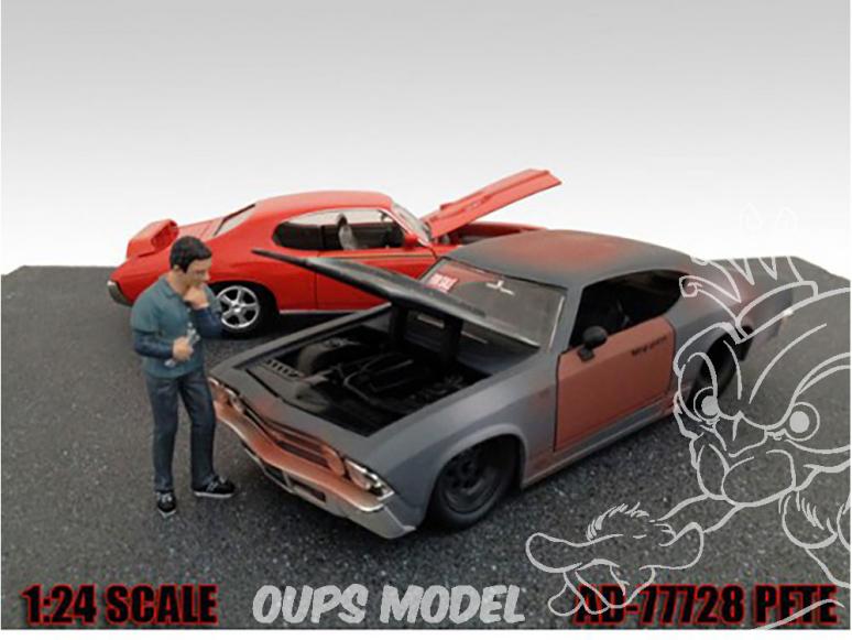 American Diorama figurine AD-77728 Mécanicien Pete 1/24