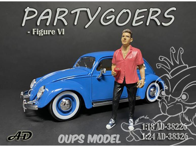 American Diorama figurine AD-38326 Fêtards - Figure VI 1/24