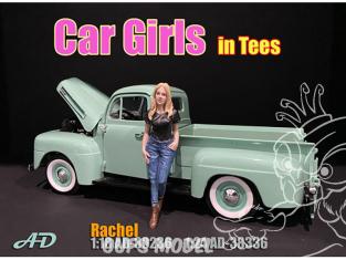 American Diorama figurine AD-38336 Car Girl en t-shirt Rachel 1/24