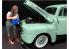 American Diorama figurine AD-38338 Car Girl en t-shirt Kylie 1/24