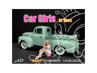 American Diorama figurine AD-38339 Car Girl en t-shirt Madee 1/24