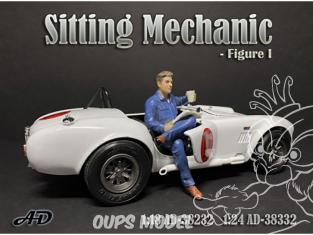American Diorama figurine AD-38332 Mécanicien assis figurine I 1/24