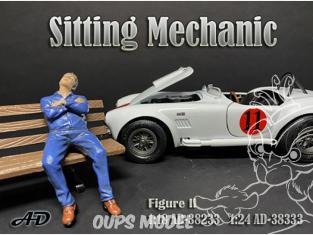 American Diorama figurine AD-38333 Mécanicien assis figurine II 1/24