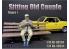 American Diorama figurine AD-38334 Vieux couple assis homme figurine I 1/24