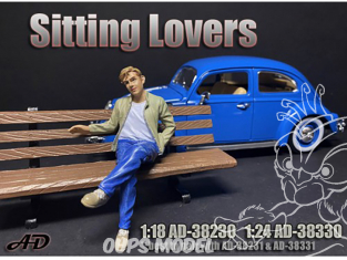 American Diorama figurine AD-38330 Amoureux assis homme figurine I 1/24