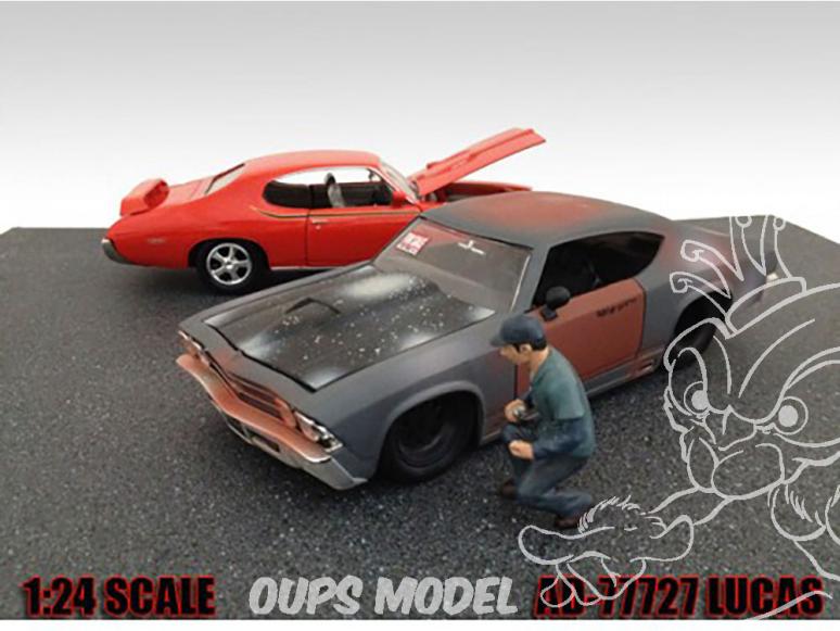 American Diorama figurine AD-77727 Mécanicien Lucas 1/24