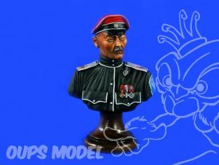 Verlinden maquette Buste 1439 General Infanterie Russe Kornivol 1920 200mm
