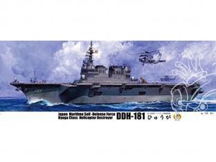 Fujimi maquette bateau 600567 Porte-hélicoptères JDS Hyūga DDH-181 1/350