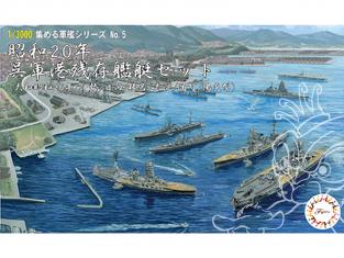 Fujimi maquette bateau 401393 port militaire de 1945 Wu (type Yamato 1945 / Ise / Hinata / Haruna / Oyodo / Haze) 1/3000