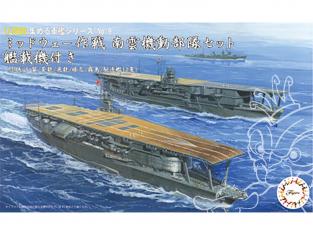 Fujimi maquette bateau 401430 Midway Operation Nagumo Akagi / Kaga / Soryu / Hiryu / Haruna / Kirishima 1/3000