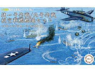 Fujimi maquette bateau 401416 Opération North No. Air Battleship Fleet Set (Ise / Hinata / Mizutsuru / Oyodo) 1/3000
