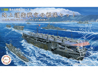 Fujimi maquette bateau 401539 Ensemble de porte-avions et d'escorte maritime type Otaka / Musashi / Agano / Akashi 1/3000