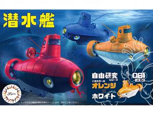 Fujimi maquette sous-marin 170961 Sous-marin Free Study Jaune et blanc