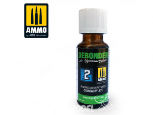 MIG JIMENEZ ACCESSOIRE 8036 Debonder - Dissolvant Cyanoacrylate by colle 21 20ml