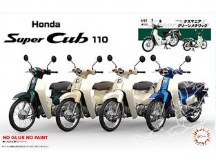 Fujimi maquette moto 141800 Honda Super Cub 110 (Vert Tasmanie métallisé) 1/12