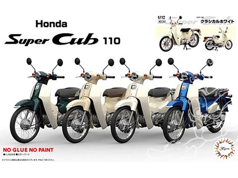 Fujimi maquette moto 141824 Honda Super Cub 110 (blanc classique) 1/12