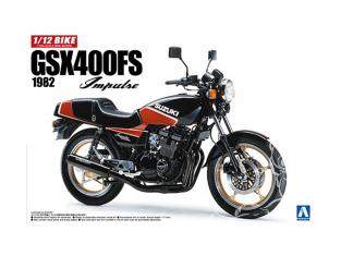 AOSHIMA maquette moto 053959 SUZUKI GSX400FS IMPULSE 1/12