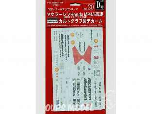 Fujimi maquette voiture 112954 Décalques pour F1 Mc Laren MP4/5 1/20
