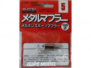 fujimi kit d'amélioration 11053 Silencieux échappement en métal 1/24