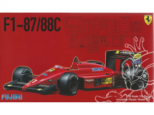 Fujimi maquette voiture 091983 Ferrari F1 - 87/88C 1/20