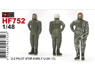 Hobby Fan kit personnages HF752 Pilote U-2 Early U-2A/C 1/48