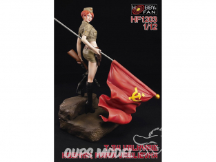 Hobby Fan kit personnages HF1203 Figurine resine T-34 Valkyrie avec socle 1/12
