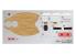 Fujimi maquette plastique bateau 422800 Flotte de Chibimaru cuirassé Musashi tiré de la bande dessiné