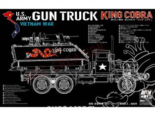 AFV maquette militaire AF35323 M113 et M54 Gun Truck King Cobra vietnam 1/35