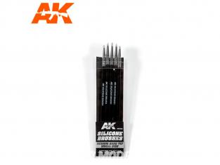 AK interactive ak9085 Pinceaux silicone Dureté moyenne - Taille petit