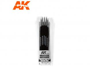 AK interactive ak9086 Pinceaux silicone Dureté moyenne - Taille moyen