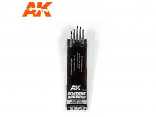 AK interactive ak9087 Pinceaux silicone Dureté rigide (hard) - Taille petit