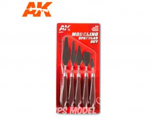 AK interactive ak9051 Set de spatules pour modelage