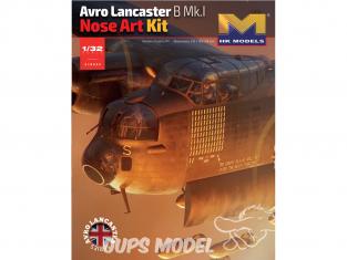 HK Models maquette avion 01E033 Avro Lancaster B Mk.I Nose Art 1/32