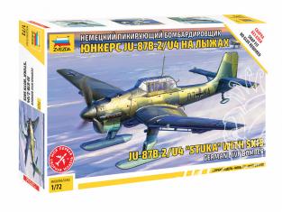 Zvezda maquette avion 7323 Bombardier en piqué allemand Junkers Ju-87 B2 sur skis 1/72