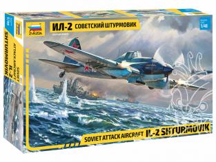 Zvezda maquettes avion 4825 Avion d'attaque soviétique Il-2 Stourmovik 1/48