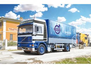 Italeri maquette camion 3945 VOLVO F16 Globetrotter Canvas Truck avec Hayon 1/24