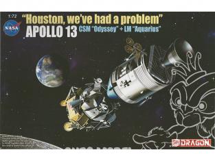 """Dragon espace 11020 """"Houston, we've had a problem"""", Apollo 13 CSM et LM 50th Anniversaire 1/72"""