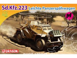 Dragon maquette militaire 7420 Sd.Kfz.223 Leichte Panzerspahwagen (Twin Pack) 1/72
